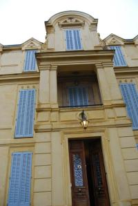 Grand entrance to the La Rivolte Villa perched high in the hills of Grasse