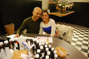 Mo and I at Molinard creating a perfume