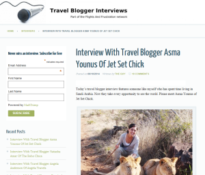 travelbloggerinterviews Asma Younus