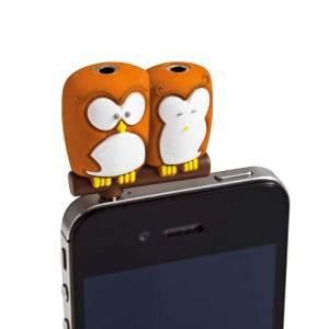 Owl Earphone Splitter - image taken from www.prezzybox.com